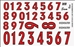 Gofer Racing Racing Numbers Red Decal Sheet